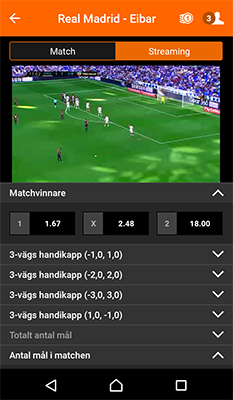 Betsson livestreaming